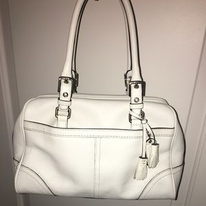 Leather Coach Shoulder Tote
